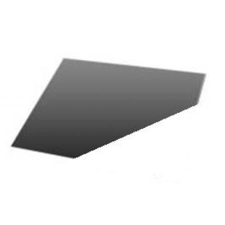 Vloerplaat (hoekmodel) staal poedercoat  99x99 cm