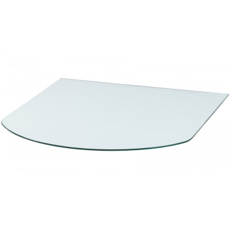 Vloerplaat glas halfrond 85x85 cm (bxd)