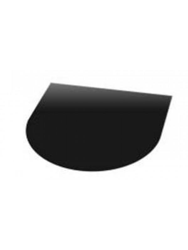 Vloerplaat staal halfrond poedercoat  80x99 cm (bxd)